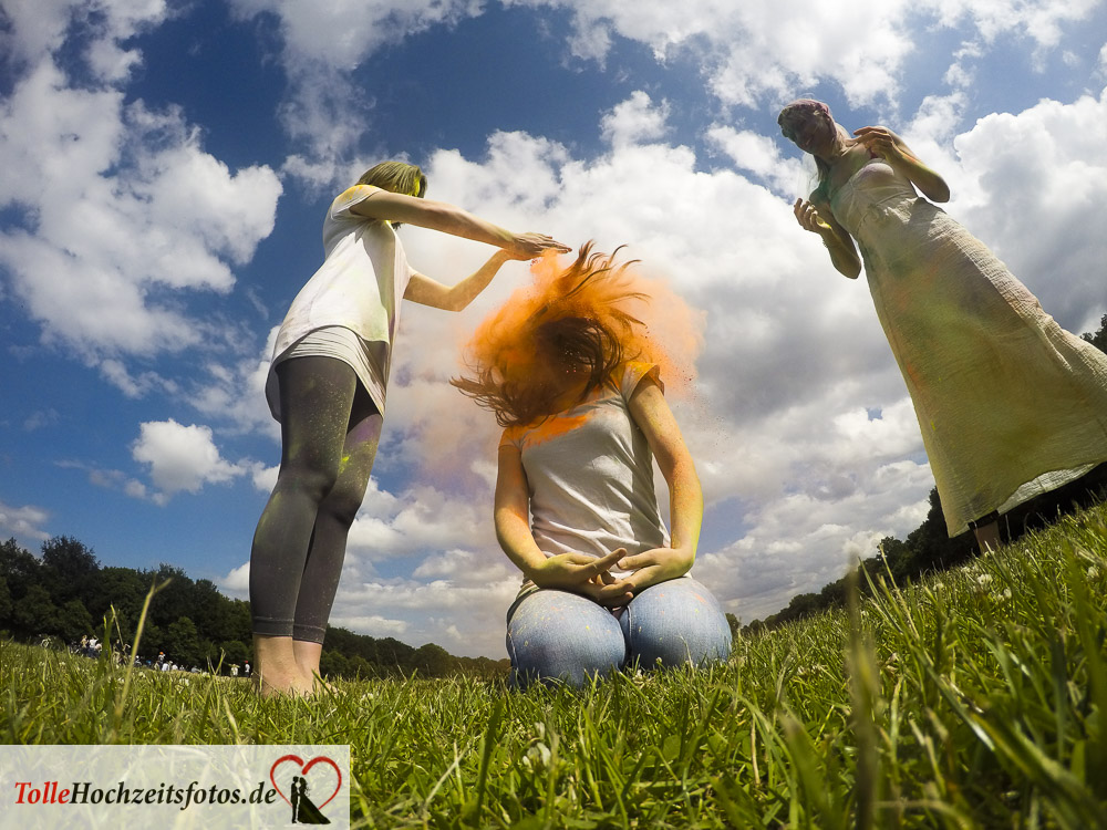 Holi Fotoshooting Junggesellinnenabschied